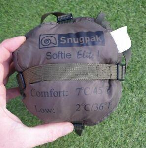 New. Snugpak Softie Elite 1 Military Army Sleeping Bag Olive GreenLightweight.