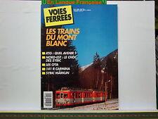Revue VOIES FERREES 066 Les trains du Mont Blanc RTG CFTA 141 R Sybic Marklin
