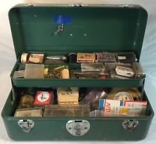 Union Utility Chest Key Green Metal Hooks Sinker Cantilever Tray Tackle Box