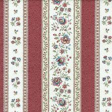 Textiles français Provençal fabric GORDES Antique Red and Ivory - per 1/2 metre