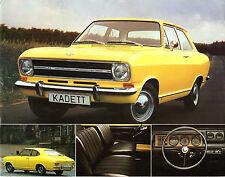 Opel Kadett B 1971-72 UK Market Leaflet Brochure Saloon Coupe Estate Rallye