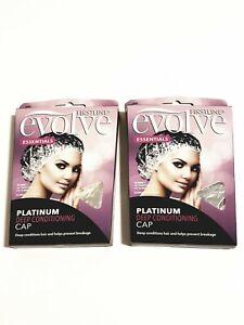 2 New packs Evolve Platinum Deep Conditioning Caps/ prevents hair breakage
