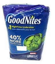 GoodNites Night Time Underwear Boys Size S/M 14 Count Marvel