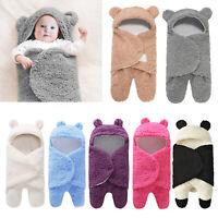 Newborn Baby Blanket Infant Toddlers Lamb Velvet Sleeping Swaddle Wrap Bag