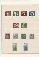 germany 1955/56 used stamps sheet ref 17840