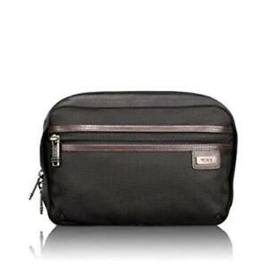 Tumi Split Case Travel Kit Toiletry Shave Bag Dopp Kit Brown Ballistic Nylon