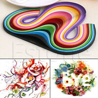 Hot Sale Cute 160/240 Stripes Quilling Paper 5mm Width Mixed Color For DIY Craft