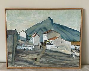 20th Century French Mountain Scene Oil Painting On Canvas - 52 x 42cm