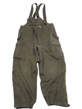 Austrian army surplus thermal trousers / dungarees with braces