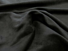 """Microsuede Faux Black Suede Fabric Upholstery 58"""" Wide - By the Yard"""