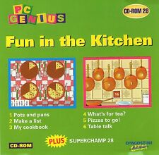 MATHS ENGLISH | fun in the kitchen | VGC | Win 95 98 XP ( 7 8 10 see listing )