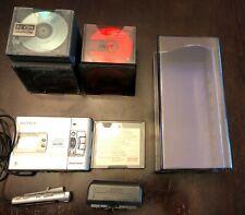 Sony Mz-R50 MiniDisc with Accessories