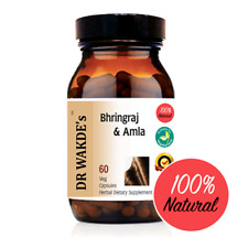 DR WAKDE'S Bhringraj & Amla Capsules I FREE SHIPPING I 100% Natural Herbal Suppl