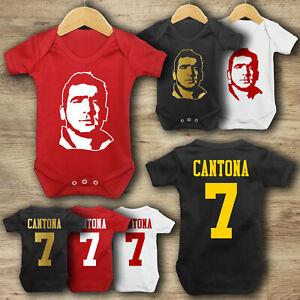 Eric Cantona 7- Baby Vest - Bodysuit - Man Utd - Baby Grow