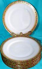 ANTG T. HAVILAND LIMOGES FRANCE HEAVY GOLD FLORAL LOT 7 SIDE BREAD BUTTER PLATES