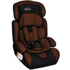 TecTake Silla de coche para niños Grupos 1 2 3 pesos de 9-36 kg negro/marrón