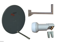 Universal Triax TD110 Satellite Dish(110cm) With Wall Mount & Twin LNB
