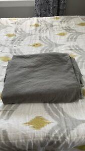 Restoration Hardware Stonewashed Cotton Linen Full/Queen Duvet Cover Gray