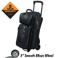 Hammer Force 3 Ball Deluxe Roller Bowling Bag with Urethane Wheels Black