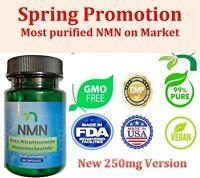 NMN Βeta-Nicotinamide Mononucleotide 250mg/ Serve - 60 Capsules. Free Shipping