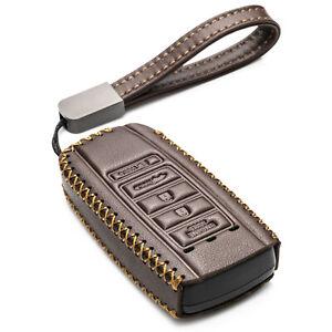 Vitodeco Leather 5-Button Smart Key Fob Case for 2016-2020 Acura RDX,MDX,ILX,TLX
