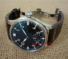 44mm Parnis watch Pilot Hand winding Men's Watch without logo Sapphire Crystal