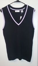 Greg Norman Performance New Nwt Golf Active Black Purple Sweater Vest Top Sz S
