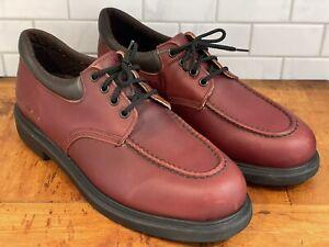 Vtg Red Wing Oxford Brown Burgundy Leather Shoes Model 105-4 16004 Men's 12 13