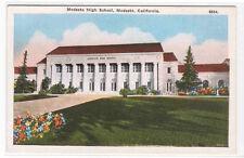 Modesto High School Modesto California 1920c postcard