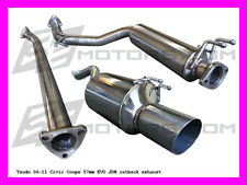 Tsudo 2006 2007 2008 2009 2010 2011 Civic Coupe 2dr 57mm EVO JDM catback exhaust