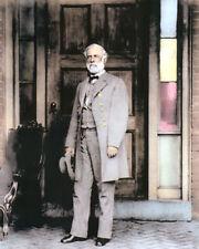 """GENERAL ROBERT E LEE CIVIL WAR 1865 CONFEDERATE 8x10"""" HAND COLOR TINTED PHOTO"""