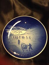 Decorative Blue Plate 1972 - Christmas in Greenland