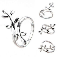 Open Finger Ring Us Size 3K9 Fashion Women Jewelry Silver Plated Jewelry Leaf