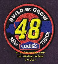 LMH PATCH Badge  2008 SEMI TRUCK  Race Car Racecar 48 Trailer LOWES Build Grow