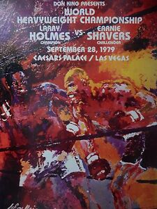 Larry Holmes Vs Earnie Shavers 16x20 Boxing Poster 9/28/1979 Caesars Palace