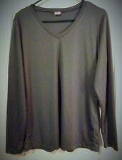 Women's Sport-Tek LS Shirt.Size Large, V-Neck, Iron Gray.Light & Breathable Top!