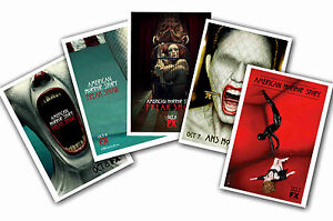 AMERICAN HORROR STORY - SET OF 5 - A4 POSTER PRINTS # 4