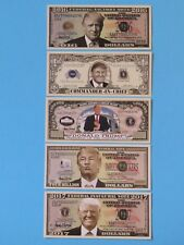 5 Different President of USA DONALD TRUMP $1,000,000 One Million Dollar Bills