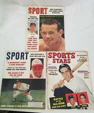 Sports Magazine Lot of 3 1951,1959, 1960, Dodgers, Yankees Baseball Don Newcombe