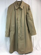 VTG NOS London Fog Trench Coat Rain Jacket USA Men 42 Zip Liner Thinsulate 3M