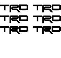 6xTRD Vinyl Decal Sticker Center Wheel replacement Single Color