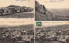 Lot 4 cartes postales anciennes CHATEAU-CHINON vue générale