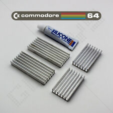 4x Heatsink Kit Commodore 64 C64 Heat Sink Spreader CPU VIC PLA SID Aluminium