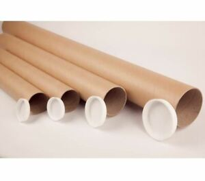 Strong Cardboard Postal Tubes A3, A2, A1, A0, B2, B1 With End Caps