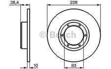 BOSCH Juego de 2 discos freno 227,5mm RENAULT 5 18 4 DACIA 1309 0 986 478 103