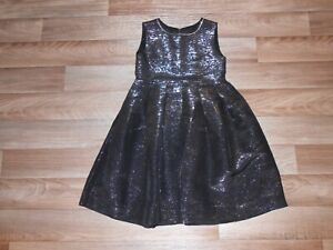 RACHEL RILEY BLACK GLITTER DRESS VERY GOOD CONDITION 6 YEAR OLD FULLY LINED