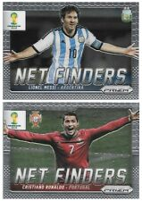 2014 PANINI WORLD CUP PRIZM Lionel Messi & Cristiano Ronaldo Net finders Cards