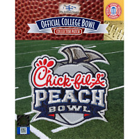2019 Chick-Fil-A Peach Bowl Game NCAA College Jersey Patch LSU Oklahoma