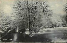 England ~1910 Fairy Frost Landschaft Landscape River Fluß Knight Series No. 661