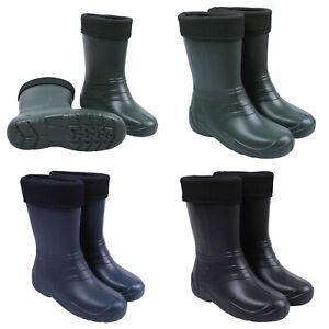 Womens Ladies Insulated Winter Wellington Boots Ultralight EVA Gardening Wellies